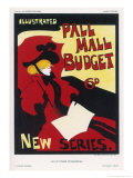 Poster for Pall Mall Budget New Series Illustrated Giclee Print by Maurice Greiffenhagen