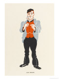 Alec Hurley Music Hall Entertainer Tenor Singer of Coster Songs Giclee Print by Elizabeth Pyke