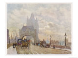 On the Road Approaching the Bridge Giclee Print by Herbert Marshall