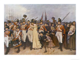 Soldiers Embarking for the Napoleonic Wars: The Girl I Left Behind Me Giclee Print by Charles Green