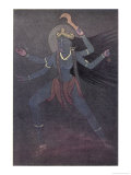 The Goddess Kali the Malevolent Aspect of Shiva's Wife Parvati Giclee Print by Nath Karl