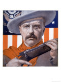 Theodore Roosevelt 26th American President: a Satirical View Giclee Print by Rene Lelong