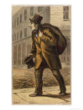London Characters: The Old Clothes Man Buys and Sells the Garments Giclee Print by H.w. Petherick