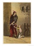 Act IV Scene I: Arthur Duke of Bretagne with Hubert the King's Chamberlain Giclee Print by Joseph Kronheim