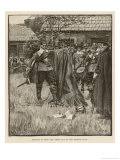 Governor Endicott Cutting the Cross out of the British Flag Giclee Print by Howard Pyle