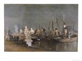 """View from the Quay at Navy House Port Said, """"A Bit of Yarmouth in the East"""" Giclee Print by Donald Maxwell"""