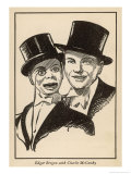 Edgar Bergen and Charlie Mccarthy His Ventriloquist's Dummy Giclee Print by Samuel Nisenson