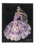 "Antonia Argentina (Antonia Merce) Flamenco Dancer in ""Cordoba"" by Albeniz Giclee Print by Marguerite Mackain"