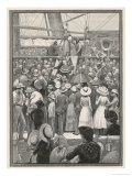 Emigrants to Australia Land in Queensland and Disembark from the Ship Giclee Print by P. Naumann