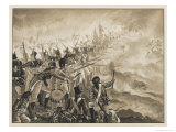 Battle of Alexandria: The 28th Regiment in Action During the Battle Giclee Print by J. Marshman