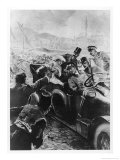 Archduke Franz Ferdinand and His Wife Assassinated in Sarajevo Giclee Print by  Schwormstaedt