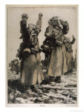 Russian Soldiers Surrender to the Germans Giclee Print by Fritz Koch-gotha