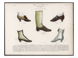 Selection of Victorian Shoes and Boots for Men and Women Giclee Print by La Moniteur