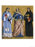 Saint Vincent Spanish Martyr Tortured and Executed at Valencia Giclee Print by Antoniazzo Romano