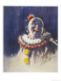 Portrait of a Laughing Clown in His Full Costume at Bertram Mills Circus Giclee Print by Gilbert Holiday