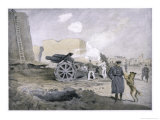 German Artillery Battery on the Western Front Giclee Print by Fritz Grotemeyer