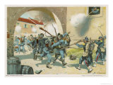 Battle of Sedan, Bavarian Troops Attack a French Position at Bazeilles Giclee Print by R Knoetel
