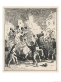 Opposers to the French Revolution a Birmingham Mob Run Riot in the City Giclee Print by  Phiz