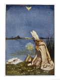 Lohengrin and the Dove of the Holy Grail Who Will Tow His Boat (Replacing the Swan) to Monsalvat Giclee Print by Byam Shaw