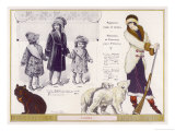 Polar Bear Fur Coat 1912 Giclee Print by Jacques Nam