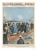 Haile Selassie the Negus of Ethiopia Arrives at Haifa and Begins His Exile Giclee Print by E. Mainetti