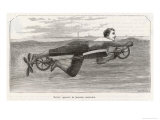 Richardson's Swimming Device Allows One to Sally Forth by Pedalling a Propellor Underwater Giclee Print by Meerahy