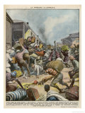 Europeans and Prominent Citizens Flee Addis Ababa as Italians Draw Near Gicleetryck av Vittorio Pisani
