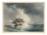 Scene Two: The Sailing Vessel Runs into Rough Seas Giclee Print by P.e. Lawrence