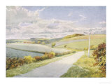 Yorkshire Scenery: The Wolds Between Sledmere and Helperthorpe Giclee Print by Gordon Home