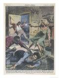 Mau Mau Attack Thwarted Giclée-tryk af Walter Molini