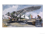 Italian Bomber Loading up Missiles in the Offensive Against the Ethiopian Army Giclee Print by Geo Ham