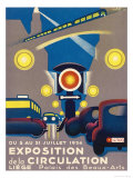 Poster for the Exposition de la Circulation Held at Liege Belgium Giclee Print by  Poleff