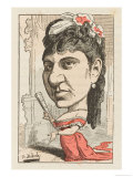 Rosalia Rousseil French Actress: a Satirical View Giclee Print by  Moloch
