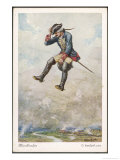 He is Hurled into a Besieged Town on a Cannonball Giclee Print by O. Herrfurth