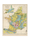 Map of France Belgium and the Netherlands Giclee Print by Thomas Johnson