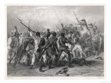 Haiti: French and Patriots in Hand-To-Hand Combat Giclee Print by Raffet