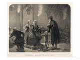 To See Ingeborg His Beloved Fridthjof Visits the Court of Her Husband Disguised as a Salt Miner Giclee Print by A. Malmstron