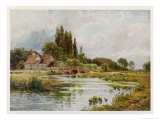 Essex Scenery: The River Stour at Dedham Premium Giclee Print by Sutton Palmer
