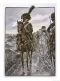Chasseurs a Cheval Riding as Napoleon's Personal Bodyguards Giclee Print by  Job