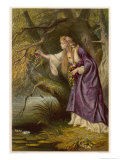 Hamlet, Act IV Scene I: Ophelia Gathers Flowers by the Stream Giclee Print by Joseph Kronheim