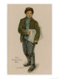 Newspaper Boy Giclee Print by L.j. Kipper