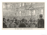 Chicago: The Trial of the Anarchist Leaders Blamed for the Riots Giclee Print by William Ottman