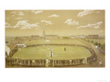 The Old Days of Merry Cricket Club Matches' at the Hyde Park Ground Sydney Australia Giclee-trykk av T.h. Lewis