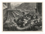 London Gas Company Old Kent Road: The Condensers Giclee Print by Henri Lanos