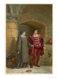Measure for Measure, Act III Scene I: The Despondent Claudio with His Virtous Sister Isabella Giclee Print by Joseph Kronheim