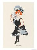 Marie Lloyd Music Hall Entertainer Giclee Print by Elizabeth Pyke