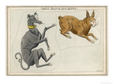 Canis Major (Dog) and Lepus (Hare) Constellation Giclee Print by Sidney Hall