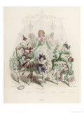 Bal des Fleurs the Flowers Ball Giclee Print by J.J. Grandville