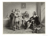 Charles I Rejects the Treaty of Oxford Giclee Print by Harry Payne