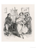 Handsome Girl is Taught to Dance Watched by Her Mother Giclee Print by J.J. Grandville